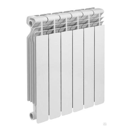Радиатор биметаллический OASIS 500мм х 6 секций, боковое [500/100/6]