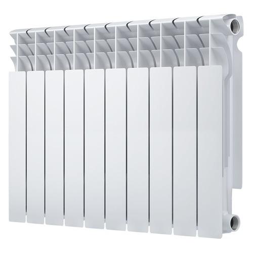 Радиатор OASIS 500/80/10, 10 секций, биметаллический биметаллический радиатор rifar рифар b 500 нп 10 сек лев кол во секций 10 мощность вт 2040 подключение левое
