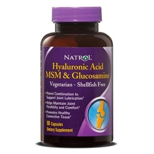 БАД NATROL Hyaluronic Acid MSM & Glucosamine, капсулы, 90шт [4515]