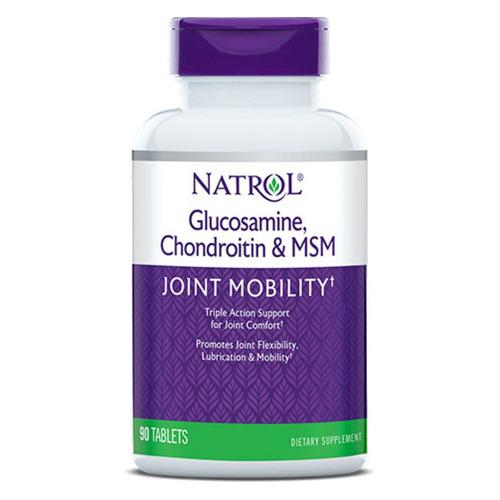 БАД NATROL Глюкозамин Хондроитин и МСМ, таблетки, 90шт [228]