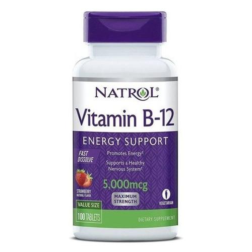 Витамин NATROL VITAMIN B-12 5000 mcg FAST DISSOLVE, таблетки, 100шт [6672]