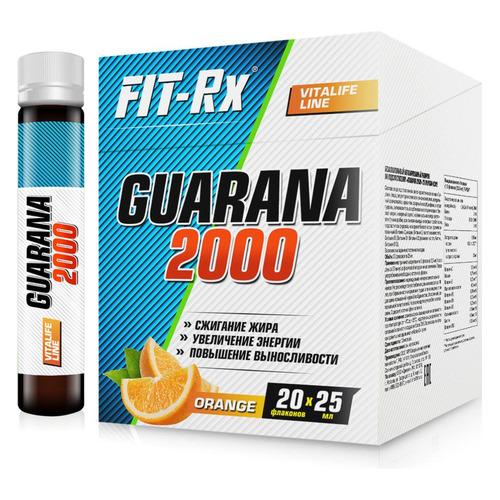 Энергетик FIT-RX Guarana 2000, 20x25мл, 20, жидкость, апельсин [00231]
