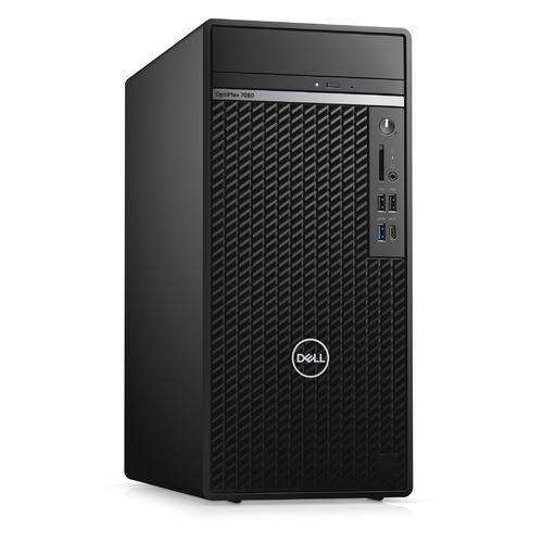 Компьютер DELL Optiplex 7080, Intel Core i7 10700, DDR4 8ГБ, 256ГБ(SSD), AMD Radeon RX 640 - 4096 Мб, DVD-RW, CR, Windows 10 Professional, черный [7080-2126]