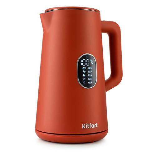 Чайник электрический KITFORT KT-6115-3, 1800Вт, красный