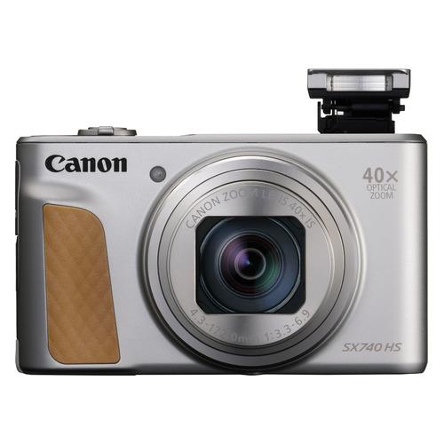 Цифровой фотоаппарат CANON PowerShot SX740HS SL, серебристый/ коричневый