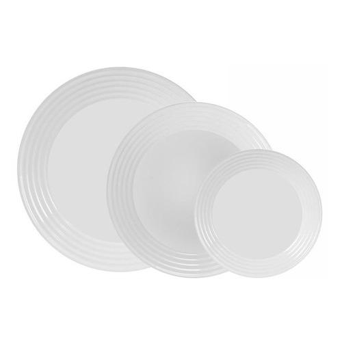 Сервиз столовый LUMINARC Harena L3270, 18 предметов, белый сервиз столовый luminarc harena 19 предметов 6 персон