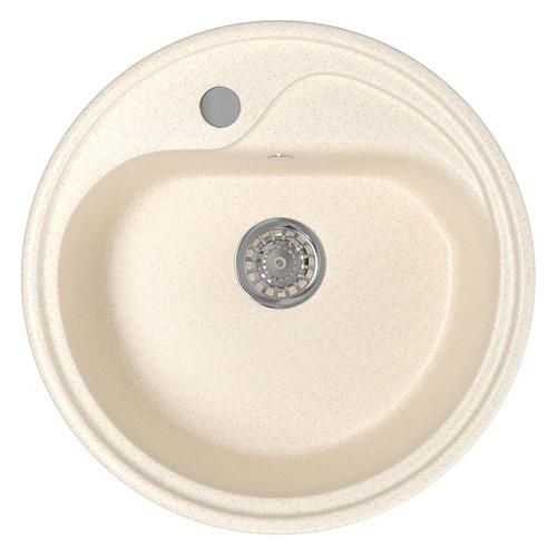 Кухонная мойка MIXLINE ML-GM10, искусственный камень, 44см х 44см, бежевый [525066]