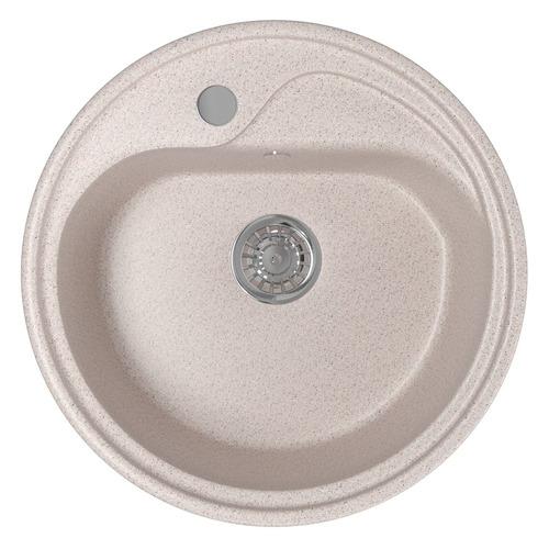 Кухонная мойка MIXLINE ML-GM10, искусственный камень, 44см х 44см, песочный [525060]