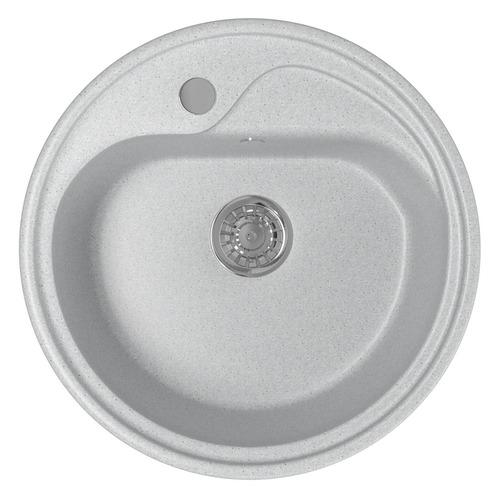 Кухонная мойка MIXLINE ML-GM10, искусственный камень, 44см х 44см, серый [525061]