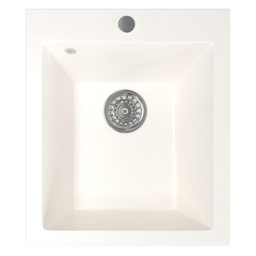Кухонная мойка MIXLINE ML-GM14, искусственный камень, 49.5см х 42см, молоко [532395]