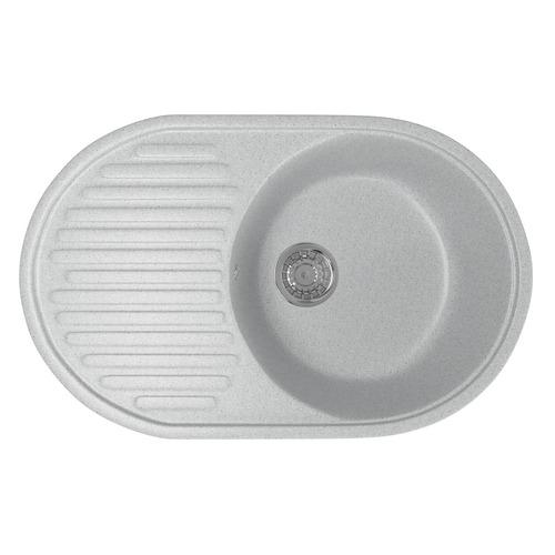 Кухонная мойка MIXLINE ML-GM16, искусственный камень, 45.5см х 72см, серый [525109]