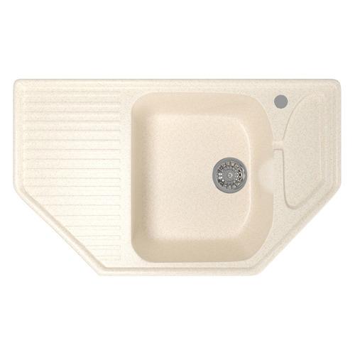 Кухонная мойка MIXLINE ML-GM24, искусственный камень, 49см х 78см, бежевый [525198]