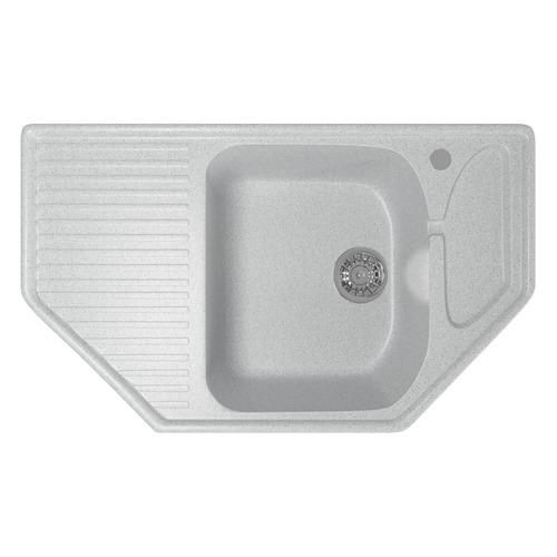 Кухонная мойка MIXLINE ML-GM24, искусственный камень, 49см х 78см, серый [525193]