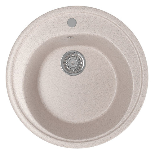 Кухонная мойка MIXLINE ML-GM11, искусственный камень, 50.5см х 50.5см, песочный [525068]