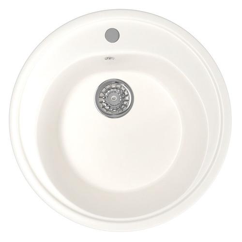 Кухонная мойка MIXLINE ML-GM11, искусственный камень, 50.5см х 50.5см, молоко [532392]
