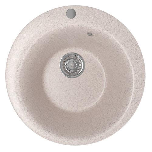 Кухонная мойка MIXLINE ML-GM13, искусственный камень, 49.5см х 49.5см, песочный [525084]