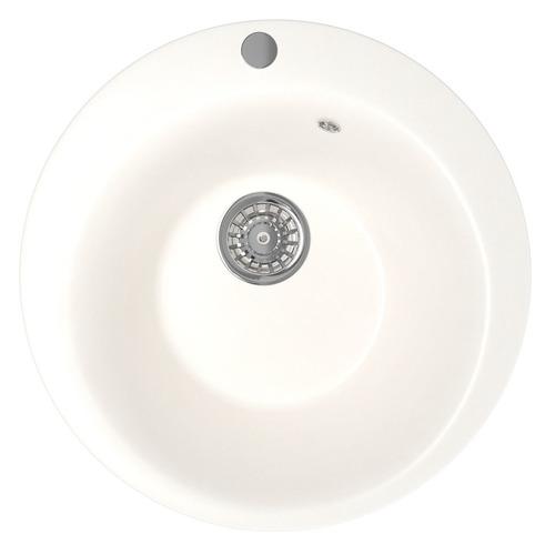 Кухонная мойка MIXLINE ML-GM13, искусственный камень, 49.5см х 49.5см, молоко [532394]
