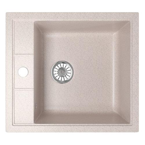 Кухонная мойка MIXLINE ML-GM28, искусственный камень, 50см х 44.5см, песочный [533508]
