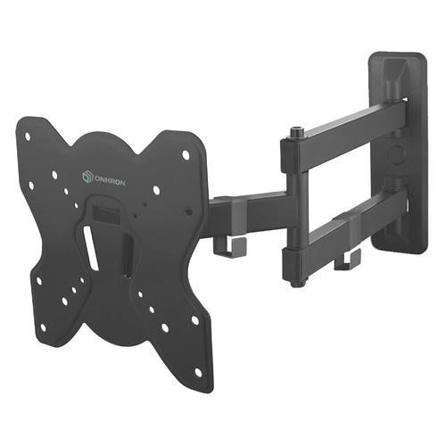 Кронштейн для телевизора ONKRON M4S, 17-43, настенный, поворот и наклон кронштейн настенный onkron nn22 17 43 фиксированный до 30 кг черный