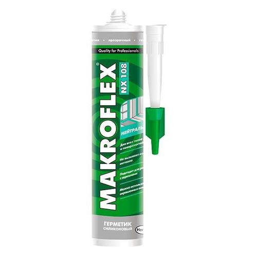 Герметик Makroflex NX108 (2005225) 290мл силиконовый санитарный прозрачный