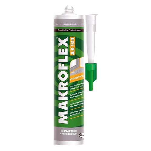 Герметик Makroflex AX104 (2371182) 290мл силиконовый санитарный белый