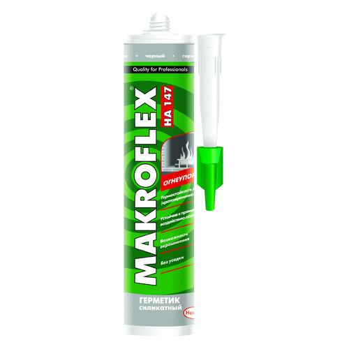 Герметик Makroflex HA147 (1327282) 300мл термостойкий черный