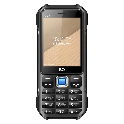 Сотовый телефон BQ Tank T 2824, черный телефон bq 2824 tank t черный