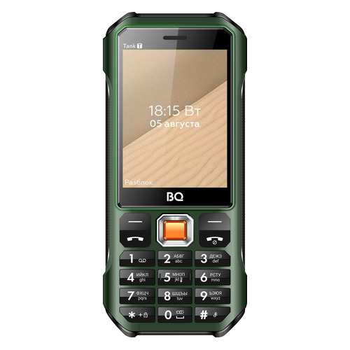 Сотовый телефон BQ Tank T 2824, темно-зеленый телефон bq 2824 tank t черный
