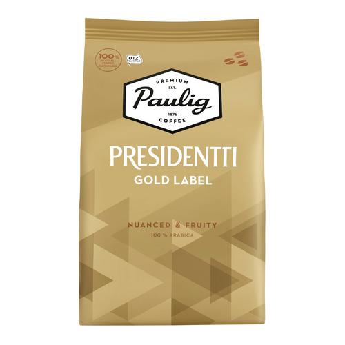 Кофе зерновой PAULIG Presidentti Gold Label, легкая обжарка, 1000 гр [17624] кофе зерновой paulig presidentti original легкая обжарка 1000 гр [17649]