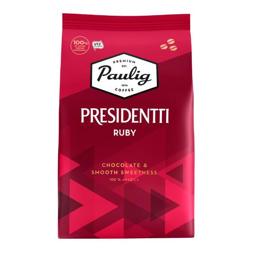 Кофе зерновой PAULIG Presidentti Ruby, средняя обжарка, 1000 гр [17634] кофе зерновой paulig presidentti original легкая обжарка 1000 гр [17649]