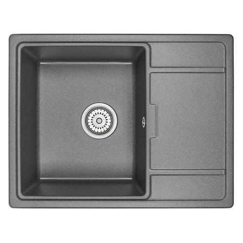 Кухонная мойка GRANULA 6503, кварц, 50см х 65см, черный [gr-6503]