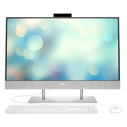 "Моноблок HP 27-dp1004ur, 27"", Intel Core i5 1135G7, 4ГБ, 256ГБ SSD, Intel Iris Xe, Free DOS 3.0, серебристый [2s7r6ea]"