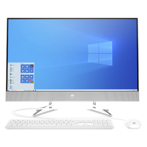 "Моноблок HP 27-dp1008ur, 27"", Intel Core i7 1165G7, 16ГБ, 512ГБ SSD, Intel Iris Xe, Windows 10, серебристый [2x4u9ea]"