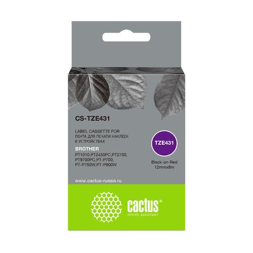 Картридж CACTUS CS-TZE431, черный картридж cactus cs pgi35 черный