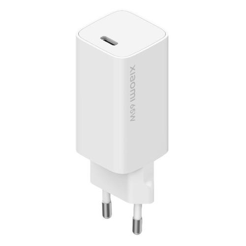Сетевое зарядное устройство XIAOMI Mi 65W, USB type-C, 3A, белый сетевое зарядное устройство xiaomi mi zmi zpower trio charger max 65w 2 type c 1 usb a 1m cable type c type c eu ha932 черный
