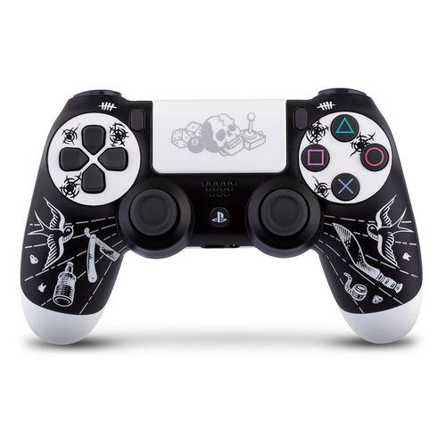 Геймпад Беспроводной Rainbo Dualshock 4 Disgusting men, для PlayStation 4, черный/белый