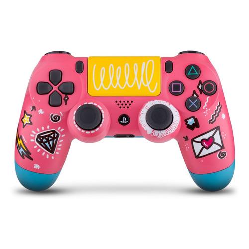 Геймпад Беспроводной Rainbo Dualshock 4 Sweet, для PlayStation 4, розовый