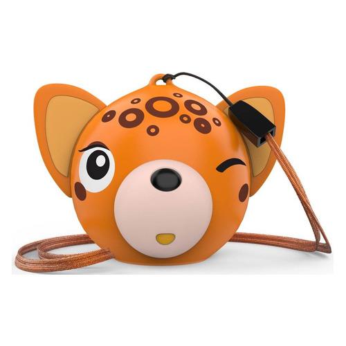 Фото - Портативная колонка HIPER Zoo Music Леопард, 3Вт, оранжевый [h-om4] портативная колонка hiper zoo music мартышка 3вт коричневый [h oz7]