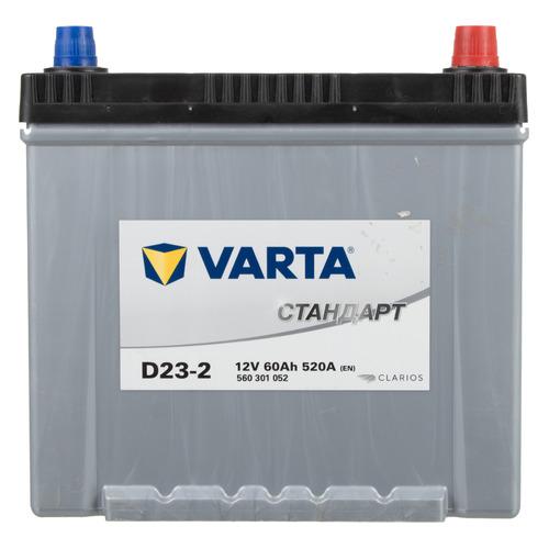 Фото - Аккумулятор автомобильный VARTA Стандарт D23-2 60Ач 520A [560301052] аккумулятор автомобильный hyundai cmf 65ач 520a [75d23l]