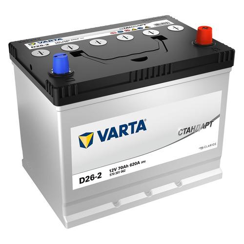 Аккумулятор автомобильный VARTA Стандарт D26-2 70Ач 620A [570301062]