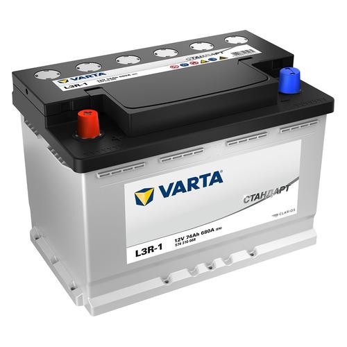 Аккумулятор автомобильный VARTA Стандарт L3R-1 74Ач 680A [574310068]
