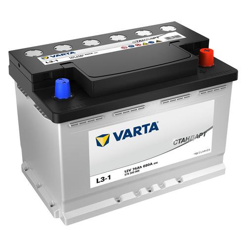 Аккумулятор автомобильный VARTA Стандарт L3-1 74Ач 680A [574300068]