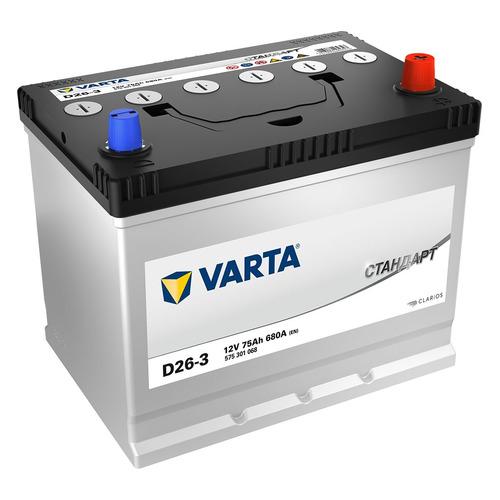 Аккумулятор автомобильный VARTA Стандарт D26-3 75Ач 680A [575301068]