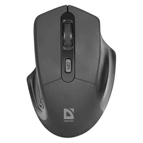 Мышь Defender Datum MB-345, оптическая, беспроводная, USB, черный [52345]