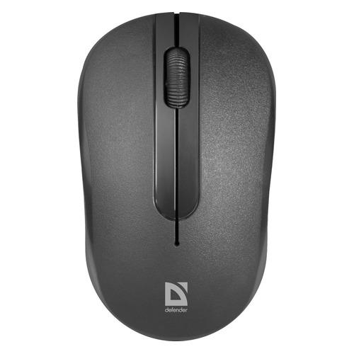 Мышь Defender Datum MM-285, оптическая, беспроводная, USB, черный [52285]