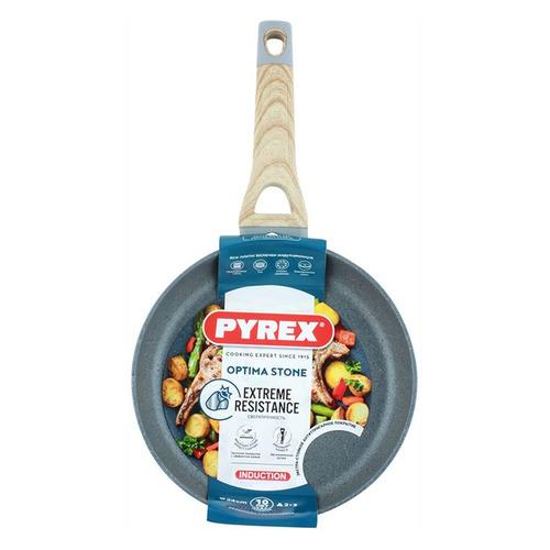 Сковорода PYREX OX28BF4/E006, 28см, 28см, без крышки, серый
