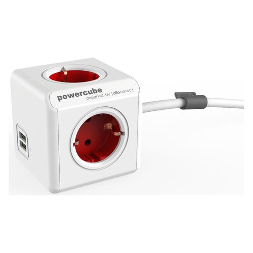 Сетевой удлинитель POWERCUBE Allocacoc Extended 1402RD/DEEUPC, 1.5м, белый