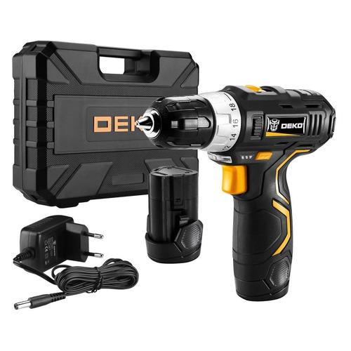 Фото - Дрель-шуруповерт DEKO GCD12DU3 SET 4 2Ач, с двумя аккумуляторами [063-4140] электроинструмент deko gcd12du3 ser 4 в кейсе оснастка 13 шт 063 4140