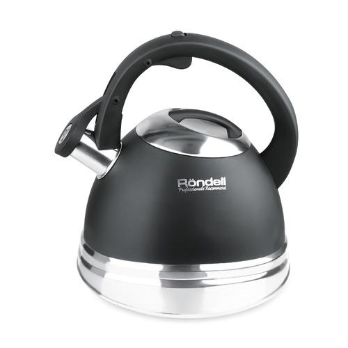 Металлический чайник Rondell 0419-RD-01, 3л, черный чайник металлический bk s637 3л
