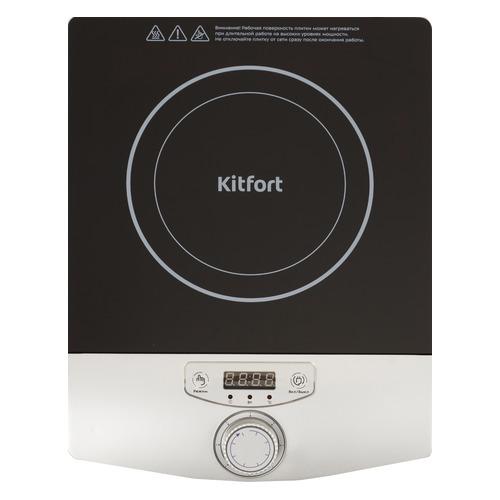 Плита Электрическая Kitfort КТ-119 черный/серебристый стеклокерамика (настольная)